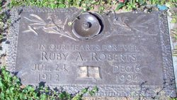 Ruby Lee <i>Adams</i> Roberts