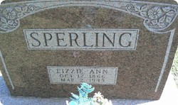 Lizzie Ann <i>Barker Harrison</i> Sperling