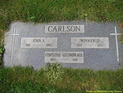 Christine Susan <i>Carlson</i> Alcombrack