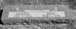 Claudia <i>Cary</i> Bible