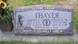 Loretta F. <i>LaRue</i> Thayer