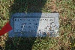 Cynthia Ann Haston