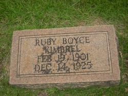 Ruby <i>Boyce</i> Kimbrel