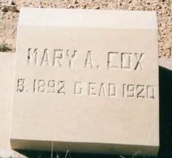 Mary Ann <i>Cox</i> Cox