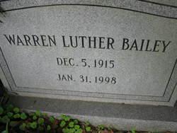 Warren Luther Bailey