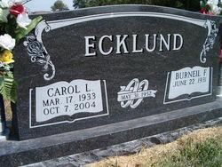 Carol Lee <i>Karloff</i> Ecklund