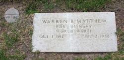 Warren B Matthew