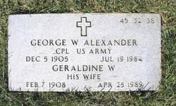 George W Alexander