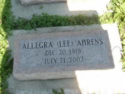 Allegra <i>Lee</i> Ahrens