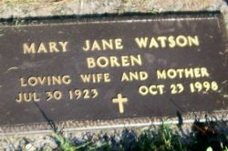 Mary Jane <i>Watson</i> Boren