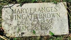 Mary Frances <i>Wingate</i> Brown