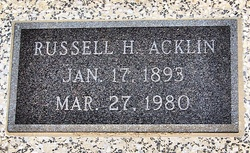 Russell H Acklin