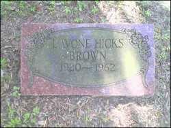 Lavon <i>Hicks</i> Brown