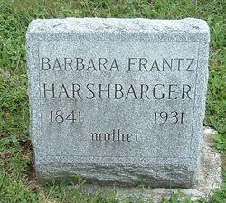 Barbara <i>Brubaker</i> Frantz, Harshbarger