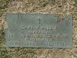 Pvt Carl V Allen