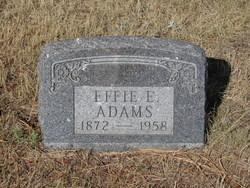 Effie E <i>Purvis</i> Adams