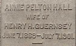 Annie Pelton <i>Hall</i> Guernsey