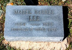 Mabel <i>Barbee</i> Lee