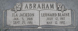 Ila <i>Jackson</i> Abraham
