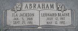 Leonard Blaine Abraham