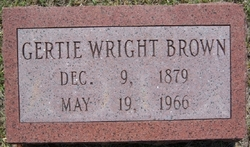 Gertie <i>Wright</i> Brown