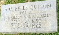 Ada Belle <i>Cullom</i> Beasley