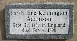 Sarah Jane <i>Kennington</i> Adamson