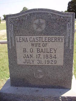 Sallie Orlena Lena <i>Castleberry</i> Bailey