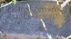 Ida H. <i>McCutcheon</i> Bailey-Kendall