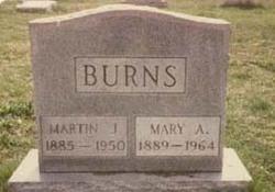 Mary A Mollie <i>Brennan</i> Burns