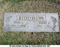 Maude R Biddison
