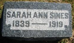 Sarah Ann <i>Gillam</i> Sines