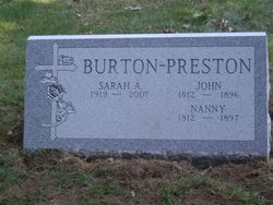 Nanny <i>Waters</i> Preston