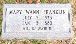 Mary Ann <i>Wann</i> Franklin