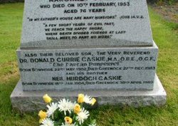 Dr Donald Currie Tartan Pimpernel Caskie