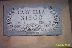 Cary Ella <i>Holder</i> Sisco