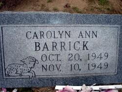 Carolyn Ann Barrick
