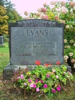 Jane <i>Ellis</i> Evans