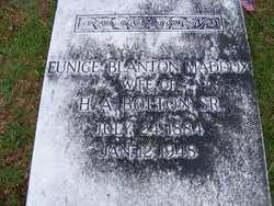 Eunice Blanton <i>Maddox</i> Bolton
