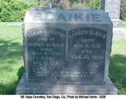 Sarah E. <i>Horton</i> Blaikie