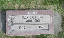 Elba A. <i>Breeding</i> Anderson