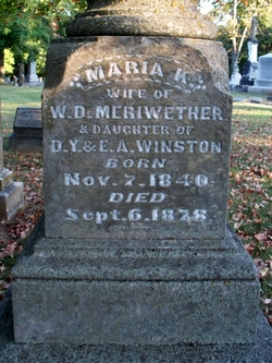 Maria Kimbrough <i>Winston</i> Meriwether