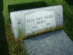 Ella Faye <i>Colden</i> Brown