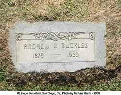 Andrew D Buckles
