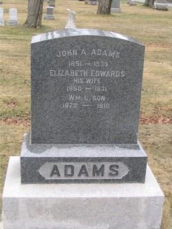 Elizabeth Lizzie <i>Edwards</i> Adams