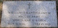 William H Bartholomew