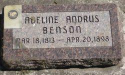 Adeline Brooks <i>Andrus</i> Benson