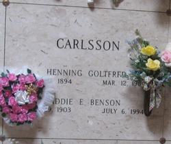Addie E <i>Benson</i> Carlsson