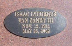 Dr Isaac Lycurgus Van Zandt, III
