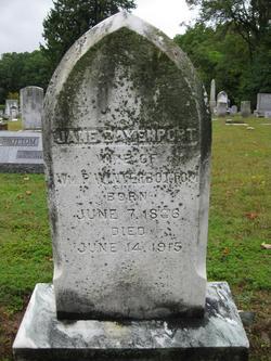 Jane <i>Davenport</i> Winterbottom